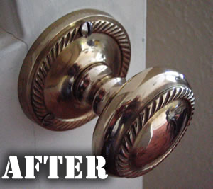 Brass Door Handle After